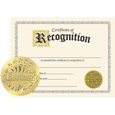 TREND, Certificate of Recognition with Seals, 11 x 8.5 Inches, Pack of 30