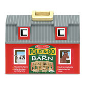 Melissa & Doug, Fold and Go Wooden Barn, Ages 3 to 7 Years Old