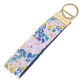 Mary Square, Autumn Blossom Blessed Key Fob, Polyester Canvas, Floral Pattern, 7 x 1 1/4 inches