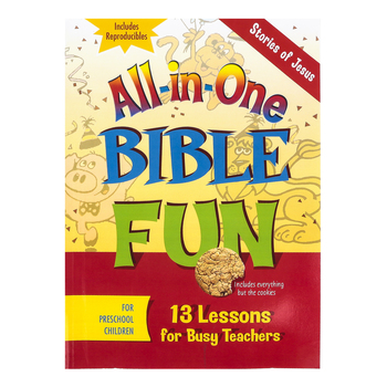 All-in-One Bible Fun for Preschool Children: Stories of Jesus Activity Book, Ages 3-5