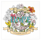 Christian Art Gifts, We Have This Hope Adult Coloring Book, 8 5/8 x 8 1/2 inches, 64 pages