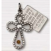 H.J. Sherman, Cross With Mustard Seed and Tag Pendant, Necklace, 18 inches