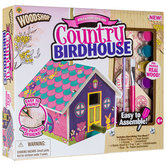 Peachtree Playthings, Woodshop Country Birdhouse Kit, 27 pieces, Ages 6 and up