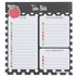 Schoolgirl Style, Black White and Stylish Brights Notepad, 5.75 x 6.25 Inches, Multi-Colored, 50 Sheets