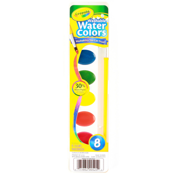 Crayola, Washable Watercolor Paints, 8 Assorted Colors