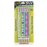 Zebra, Mechanical Pencils, Medium Point, Fashion Barrel, Pack of 5