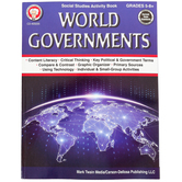 Carson-Dellosa, World Governments Activity Workbook, 80 Pages, Grades 5-8 and up