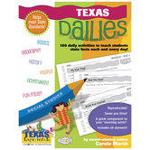 Gallopade, Texas Dailies, Carole Marsh, Grades 1-8, Paperback, 78 Pages