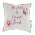DaySpring, Be Still and Trust God Square Throw Pillow, Polyester and Cotton, 12 x 12 inches