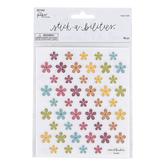 the Paper Studio, Stickabilities, Multi Flower Glitter Stickers, 96 Stickers