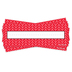 Isabella Collection, Nameplates, Red and White Herringbone, 9.25 x 2.5 Inches, 36 Count