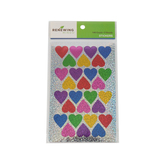 Renewing Minds, Heart-Shaped Sparkle Stickers, Assorted Colors, Pack of 140