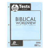 BJU Press, Biblical Worldview Tests Answer Key, ESV Version, Grades 11-12