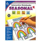 Carson-Dellosa, Interactive Notebooks: Seasonal Resource Book, Paperback, Reproducible, 96 Pages, Grade K
