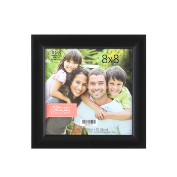 Expression Scoop Photo Frame, 8 x 8 inches, Black Plastic