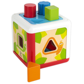 Hape, Shape Sorting Box, 5 inches, 5 Pieces, Ages 1 to 8
