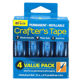 Ad Tech, Crafter's Permanent Runner Tape Value Pack, 4 Rolls of Tape