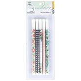 the Paper Studio, agenda 52 Farmhouse Pen Set, Fine Tip, 1 Each of 5 Designs