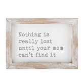 Collins Painting & Design, Nothing Is Really Lost Framed Sign, Wood, 7 x 5 x 1 1/2 inches