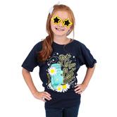 Cherished Girl, Let Your Light Shine Kids T-shirt, Navy