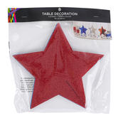 Brother Sister Design Studio, Patriotic Glitter Star Centerpieces, 9 3/8 x 9 3/8 x 9 inches, Set of 3
