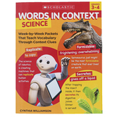 Scholastic, Words in Context: Science Activity Book, Reproducible,128 Pages, Grades 3-4