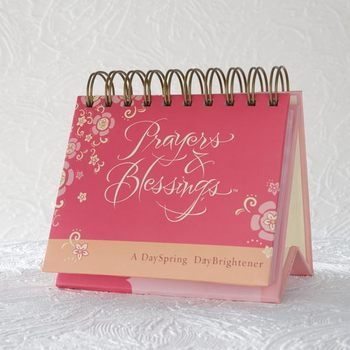 DaySpring, Prayers and Blessings Perpetual Calendar, Paper, 5-1/2 x 5-1/4 x 1-1/4 inches