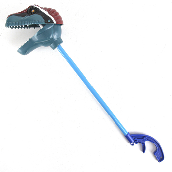 Wild Republic Toys, Velociraptor Grabber, Gray, 18 inches