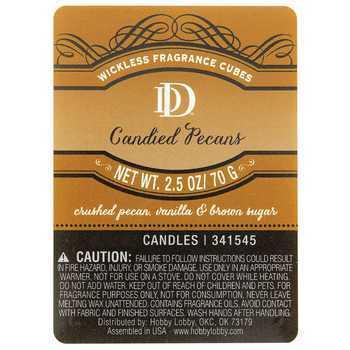 D&D, Candied Pecan Scented Wax Melts, 6 Cubes, 2 1/2 ounces