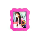 Green Tree Gallery, Large Quatrefoil Photo Frame, Hot Pink, MDF, for 8 x 10 inch picture