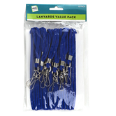 Make A Note, Solid Color Lanyards, Multiple Colors Available, Set of 10