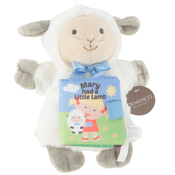 Nat & Jules, Mary Had a Little Lamb Plush Puppet and Storybook, 9 1/2 x 3 1/2 inches