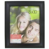 Plastic Expression Scoop Photo Frame, Black, 8 x 10 inches