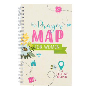 Barbour Books, The Prayer Map For Women: A Creative Journal, Cream, 8 x 5 inches, 176 pages