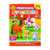 School Zone, Preschool Stickers Activity Book, A Stuck On Learning Book, 72 Pages, PreK-Grade K