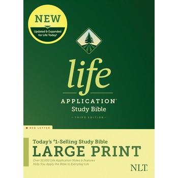 NLT Life Application Study Bible, Large Print, Hardcover