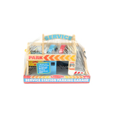 Melissa & Doug, Wooden Service Station Parking Garage, Ages 3 to 6 Years Old, 3 Pieces