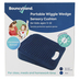 Bouncyband, Antimicrobial Wedge Wiggle Seat Sensory Cushion, Portable, Blue, 10 x 10 Inches, Ages 3-12