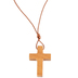 HJ Sherman, Wooden Cross Necklace, Brown