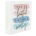 Sincere Surroundings, You're Beautiful Capable Worthy Wood Block, White, 5 1/4 x 5 1/4 x 1 1/4 inches