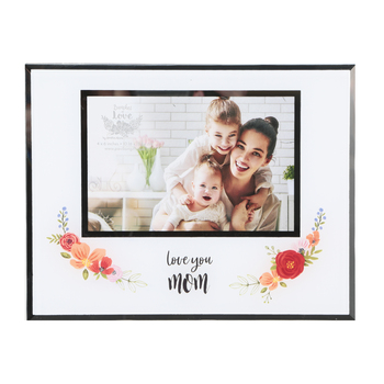 Pavilion Gift, Love You Mom Photo Frame, Holds 6 x 4 Photo, 9 1/4 x 7 1/4 inches