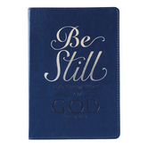 SoulScripts, Psalm 46:10 Be Still, Flexcover Journal, Navy, 6 x 8 1/2 inches, 360 Pages