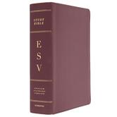 ESV Study Bible, Large Print, Bonded Leather, Burgundy