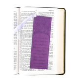 Christian Art Gifts, For I Know The Plans Bookmark, LuxLeather, Purple, 6 1/2 x 2 inches