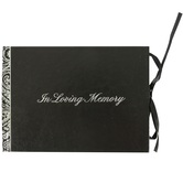 Salt & Light, In Loving Memory Funeral Guest Book, Hardcover, Black, 5 3/4 x 8 inches