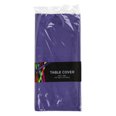 Brother Sister Design Studio, Plastic Table Cover, Purple, Rectangle, 54 x 108 Inches, 1 Each
