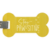 P. Graham Dunn, Stay Paw-sitive Key Chain, Wood and Metal, Gold, 2 x 6 1/2 inches