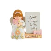 Dicksons, I Said a Prayer Child Angel Figurine, Resin, 2 1/2 x 2 3/4 inches