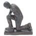 Dicksons, Philipppians 4:13 Praying Baseball Player Figurine, Resin, Bronze, 6 x 5 inches