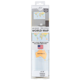 The Peel People, Dry Erase Peel and Stick World Map, Removable, 12 x 18 Inches